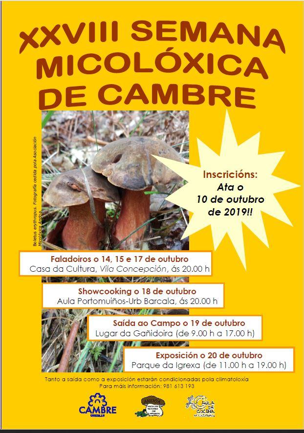 Semana Micolóxica de Cambre 2019